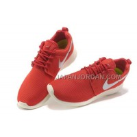 Nike Roshe Run Junior Mens Red Black Silver Shoes オンライン
