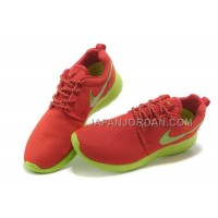 送料無料 Nike Roshe Run Junior Womens Orange Green Shoes