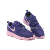 送料無料 Nike Roshe Run Junior Womens Purple Pink Shoes
