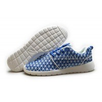 Nike Roshe Run KPU Womens Blue White Shoes 格安特別