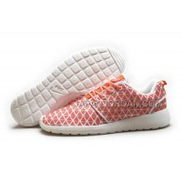 Nike Roshe Run KPU Womens Orange White Shoes 格安特別
