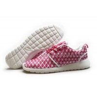 送料無料 Nike Roshe Run KPU Womens Pink White Shoes