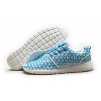 送料無料 Nike Roshe Run KPU Womens Sky Blue White Shoes