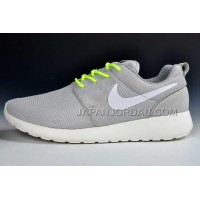 Nike Roshe Run Mesh Knitting Mens Silver White Shoes 格安特別