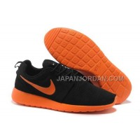 Nike Roshe Run Mesh Mens Black Fluorescent Orange Shoes 格安特別