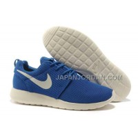 Nike Roshe Run Mesh Mens Blue White Shoes 格安特別