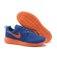 Nike Roshe Run Mesh Mens Dark Blue Orange Shoes オンライン