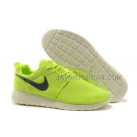Nike Roshe Run Mesh Mens Green White Black Shoes 格安特別