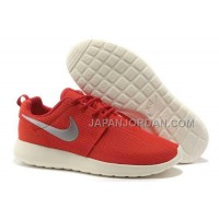 Nike Roshe Run Mesh Mens Red Black Silver Shoes 格安特別