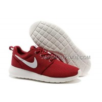 Nike Roshe Run Mesh Mens Red White Shoes オンライン