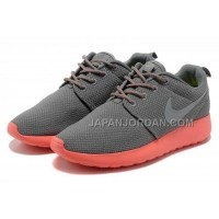 送料無料 Nike Roshe Run Mesh Women Grey Pink Shoes