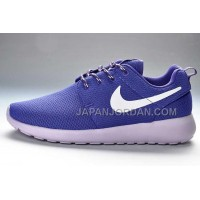 送料無料 Nike Roshe Run Mesh Womens Dark Purple White Shoes