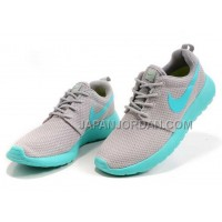 送料無料 Nike Roshe Run Mesh Womens Grey Mint Green Shoes