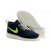 送料無料 Nike Roshe Run Mid Womens Marine Volt Shoes