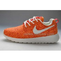 Nike Roshe Run Pattern Womens Orange White Shoes ホット販売