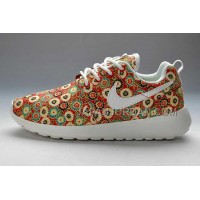 Nike Roshe Run Pattern Womens Red Mum Shoes ホット販売