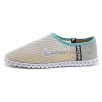 Nike Roshe Run Slip On Mens Light Gray White Shoes 格安特別
