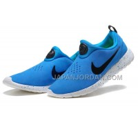 ホット販売 Nike Roshe Run Slip On Mens Suede Promo Military Blue Black Shoes