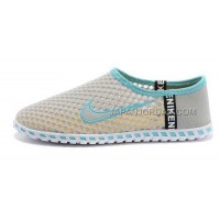 Nike Roshe Run Slip On Womens Light Gray Blue Shoes ホット販売