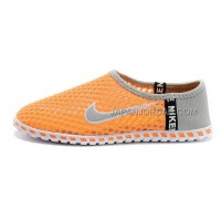 Nike Roshe Run Slip On Womens Orange Gray White Shoes ホット販売