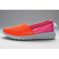 Nike Roshe Run Slip On Womens Orange Peach Shoes ホット販売