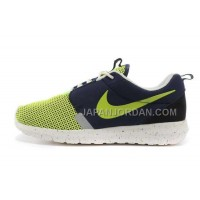 Nike Roshe Run Suede Mens 3M Reflective Green Navy White Shoes オンライン