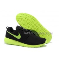 Nike Roshe Run Suede Mens Black Green Shoes オンライン