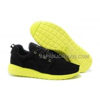 Nike Roshe Run Suede Mens Black Yellow Shoes オンライン