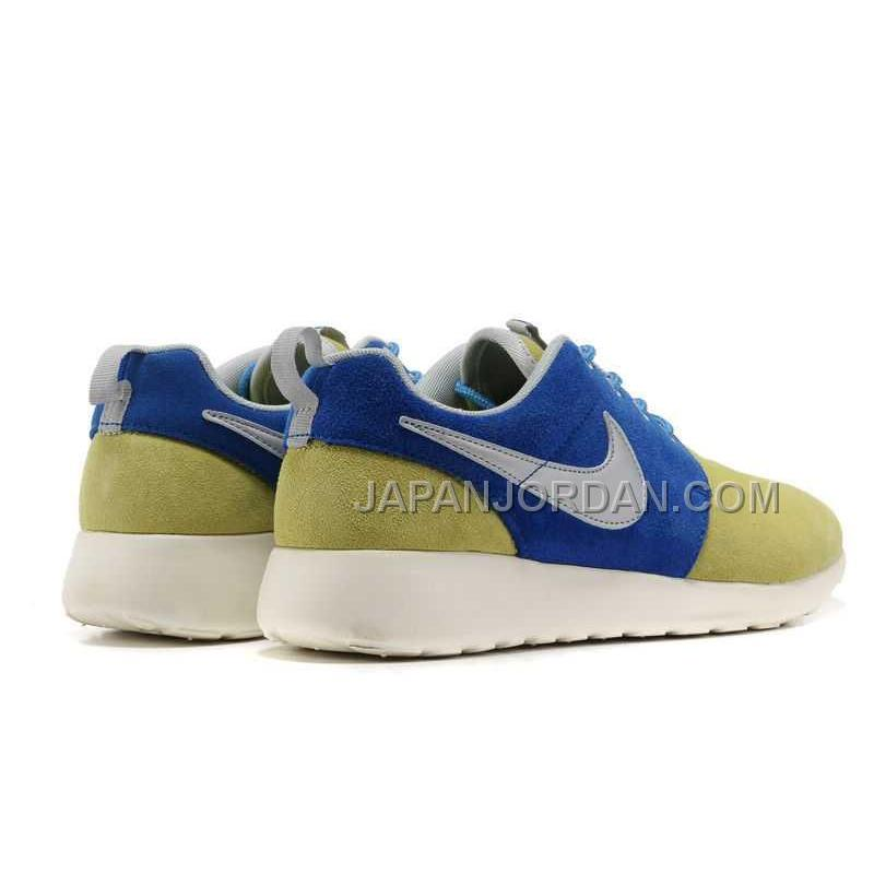 nike roshe run suede mens wheat blue shoes ����� price