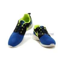 送料無料 Nike Roshe Run Suede Womens Black Doder Blue Shoes