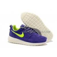 Nike Roshe Run Suede Womens Purple White Green Shoes ホット販売