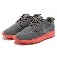送料無料 Nike Roshe Run Womens Grey Pink Mesh Shoes
