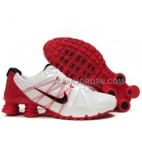 新着 Nike Shox Agent Mens White Red
