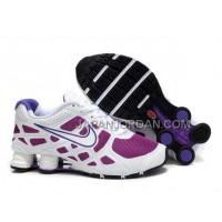 新着 Nike Shox Turbo 12 Womens Mesh White Purple