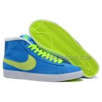 Nike Wmns Blazer Mid Suede Fur Womens Blue Green Shoes 割引販売