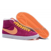 Nike Wmns Blazer Mid Suede Fur Womens Fuchsia Shoes 割引販売