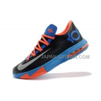 割引販売 Nike Zoom KD Vi Mens Black Orange Light Blue