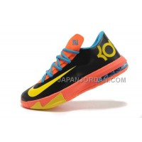割引販売 Nike Zoom KD Vi Mens Black Orange Yellow