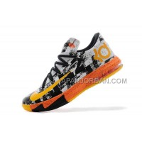 割引販売 Nike Zoom KD Vi Mens Black White Orange