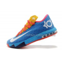 割引販売 Nike Zoom KD Vi Mens Blue Yellow