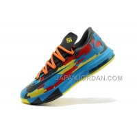 割引販売 Nike Zoom KD Vi Mens Camouflage Yellow Blue Red