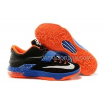 オンライン Nike Zoom KD Vii Mens Black Blue With Orange Sole