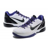 オンライン Nike Zoom Kobe Vi Mens White Black Purple