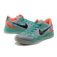 ホット販売 Nike Zoom Kobe Viii Mens Gray Turquoise Orange