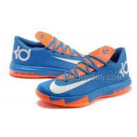 ホット販売 Nlke KD Vi Mens Blue White Orange