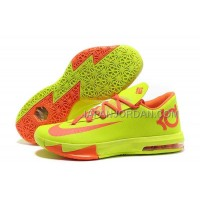 ホット販売 Nlke KD Vi Mens Fluorescence Green Orange
