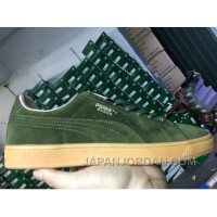 PUMA SPORTSTYLE SUEDE Gum Outsole Green Men Free Shipping