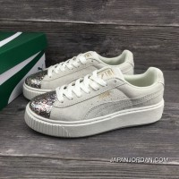 Puma Basket Creeper Blink White For Women Super Deals