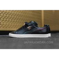 Online PUMA Clyde CYN 363637 01 Black Leather Metallic Signature