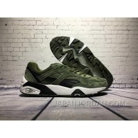 PUMA R698 Dark Green Women/men Super Deals